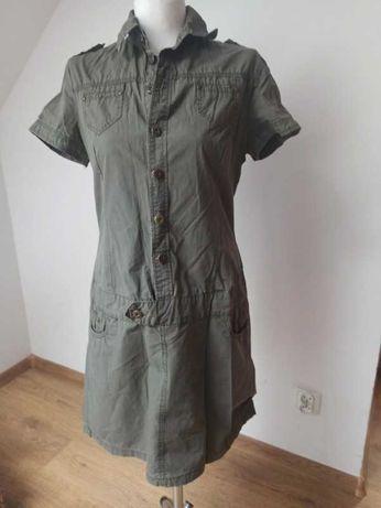 Sukienka w stylu wojskowym ;) r. 38, M