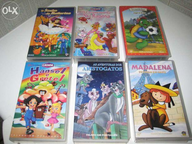 Cassetes de Video Filmes Animados