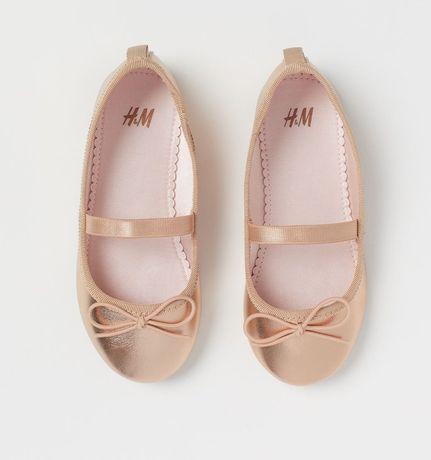 Nowe złote balerinki h&m dla dziewczynki 25
