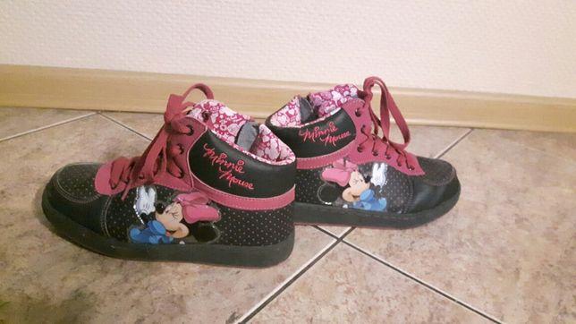 Trzewiki Minie Mouse r. 35  Disney wkładka 23 cm buty trampki