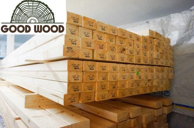 Drewno konstrukcyjne C24 na dom, wiatę, pergolę, kantówka SZWEDZKIE