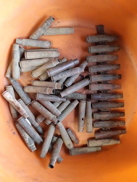 Стреляные гильзы с немецких винтовок