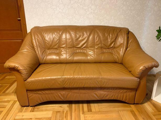 Kanapa skórzana i dwa fotele