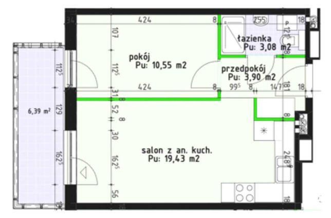 CESJA 2 Pokoje 2 PIĘTRO Nowa Inwestycja Borki Apartamenty Bulwary