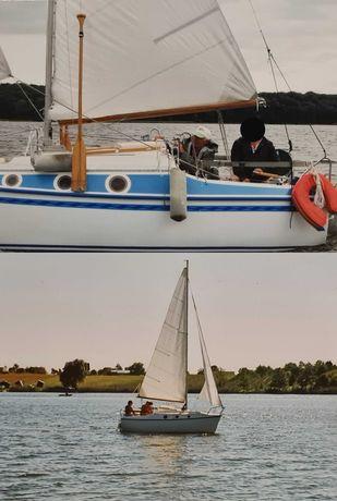 Żaglówka, łódź kabinowa, łódka, jacht laminatowy 5m, przyczepa, silnik
