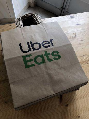Caixa de 200+ Sacos de Papel Uber Eats
