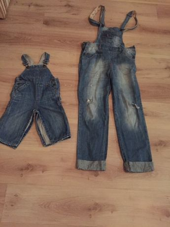 Family look джинсовый комбинезон gap 18-24 мес , S взрослый