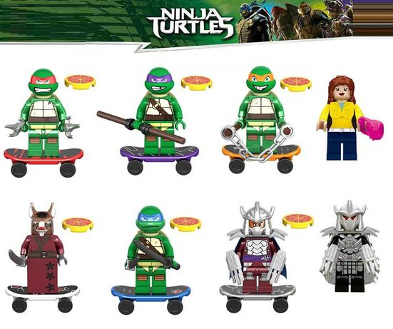 Bonecos minifiguras Tartarugas Ninja (compatível com Lego)