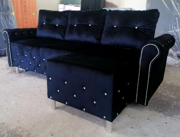RATY narożnik GLAMOUR rogówka kanapa łóżko sofa rozkładana pojemnik