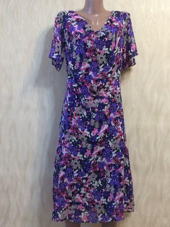 Легкое шифоновое платье damart , р.14(50)