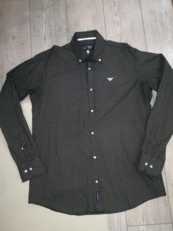 Koszula ARMANI XXL oryginał czarna w biale kropki