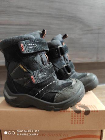 Детские зимние ботинки ECCO, сапоги, gore-tex, 23 размер