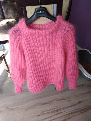 Sweter ręcznie robiony moher