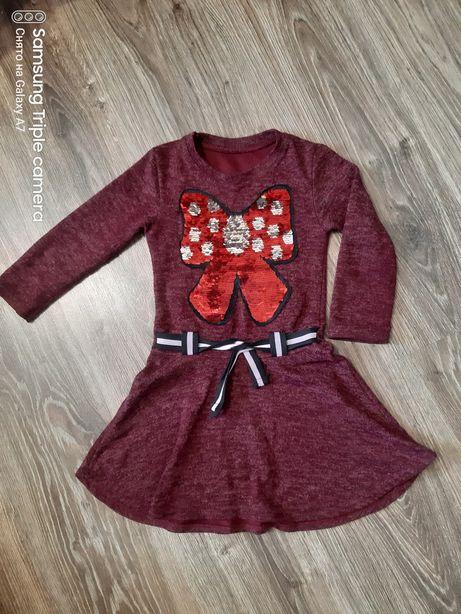 Платье на девочку пайетки рост 110