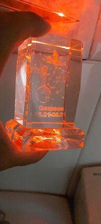 Gemeos em cristal c/luz