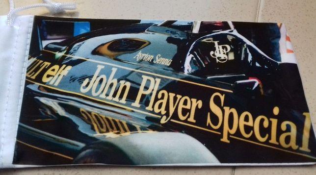 Bolsa para óculos de sol ou de leitura Ayrton Senna Lotus