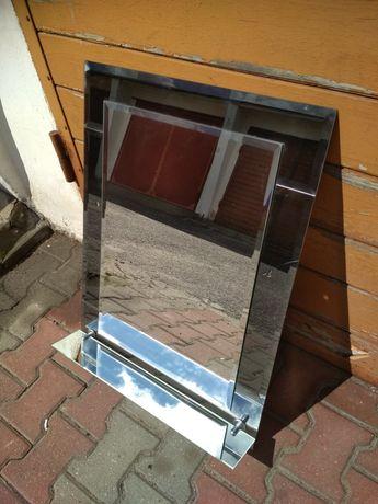 Używane, lekko pęknięte lustro około 60x70cm z półką Koszalin