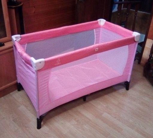 Cama portátil e articulada cor rosa