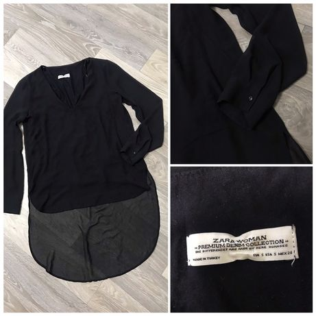 Чёрная стильная блуза Zara.