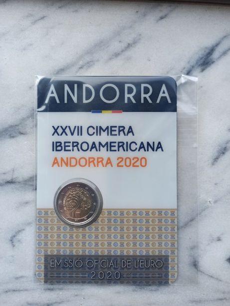 Moeda comemorativa 2 euros Andorra 2020 Ibero Americana