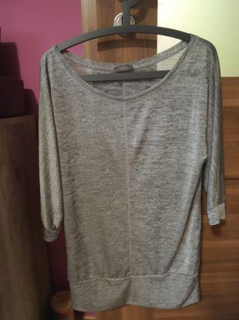 Bluzka Oversize szara popielata błyszcząca srebrna Yessica C&A