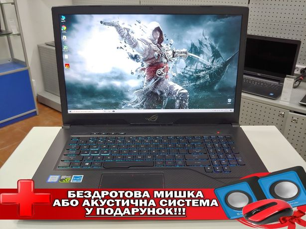 "ASUSROG Strix GL703GM/17.3""Full HD/i7-8750H/16GB/SSD480GB/GTX1060 6GB"