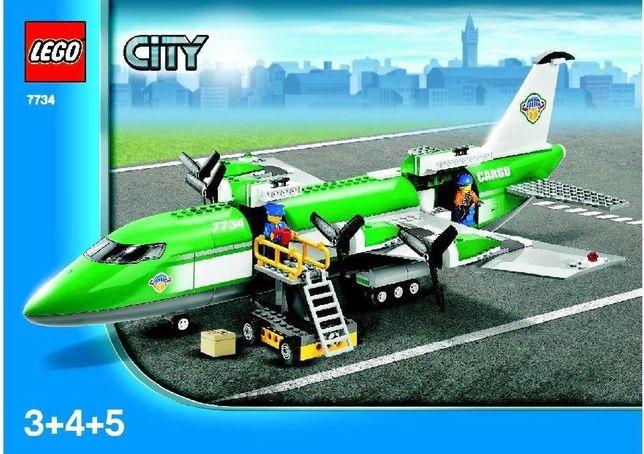 Lego 7734 Samolot Cargo Airplane City !!