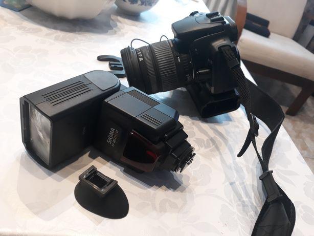 Canon eos  400D obiektyw Sigma  17-70 Lampa Sigma