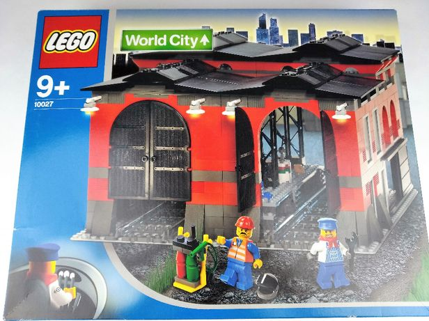 Lego City 10027 Train Engine Shed 9V NOWY