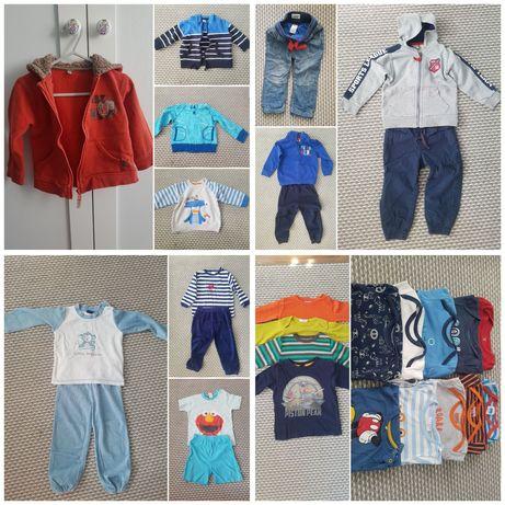 Zestaw ubranek dla chłopca 86 bluza spodnie dres