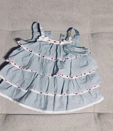 Платье Chicco + летний бодик (12мес.)