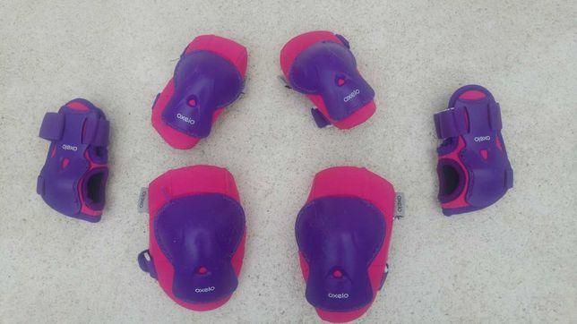 Proteções para patins criança play rosa (conjunto) tamanho 2XS (XXS)