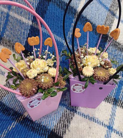 Квіти з шоколаду
