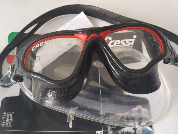 Очки Маска Cressi Sub Cobra Новая Made in Italy в Чехле и Упаковке
