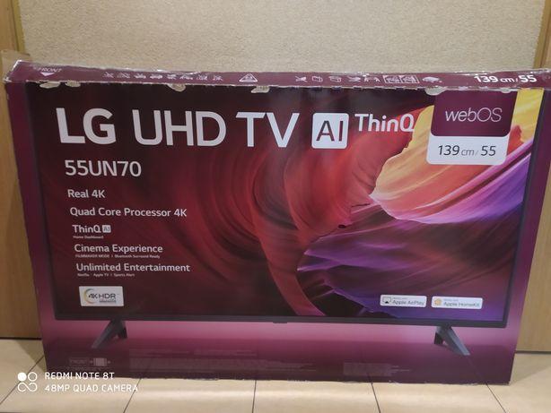 Telewizor LG 55 cali uszkodzony w transporcie