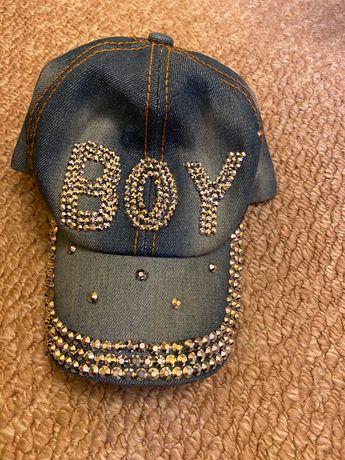 Кепка джинсовая на мальчика