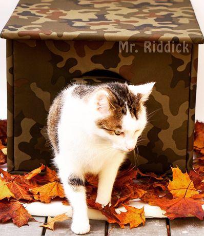 DOMEK dla kota na DWÓR, budka na zimę. Ocieplana i solidna