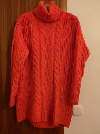 Golf czerwony sweter H&M
