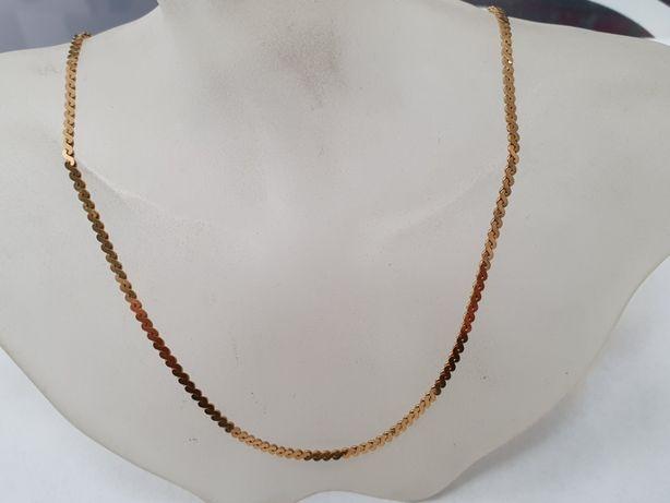 Piękny złoty łańcuszek / kolia/ 750/ 38cm/ 8.27 gram/ sklep Gdynia
