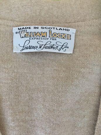 Pullover sem mangas côr beige William Lockie NOVO