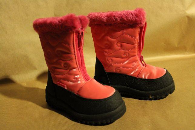 Buty śniegowce 27 dla dziewczynki ocieplane zimowe buciki na zimę