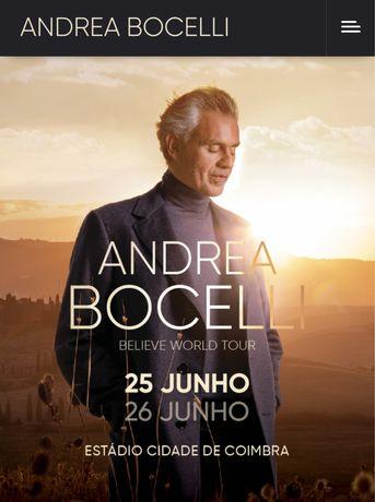 Bilhetes Concerto Andrea Bocelli - Coimbra