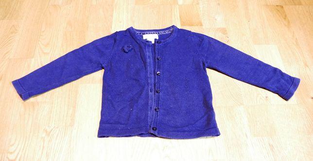 Ciuszki dziecięce sweterek niebieski rozm 92 na guziki