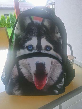 Plecak szkolny z psem Husky