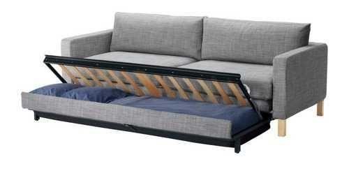 Sofá-cama Karlstad do Ikea de 3 lugares com 2 capas