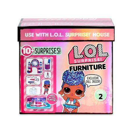 Набор LoL Surprise с мебелью. Furniture backstage с куклой Queen.