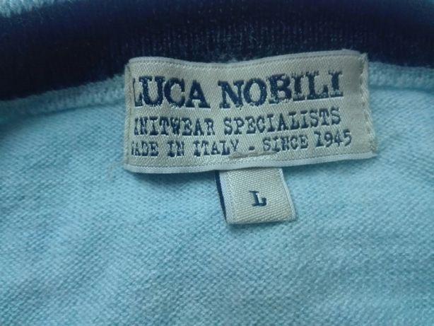 Włoski sweter wełniany jak nowy