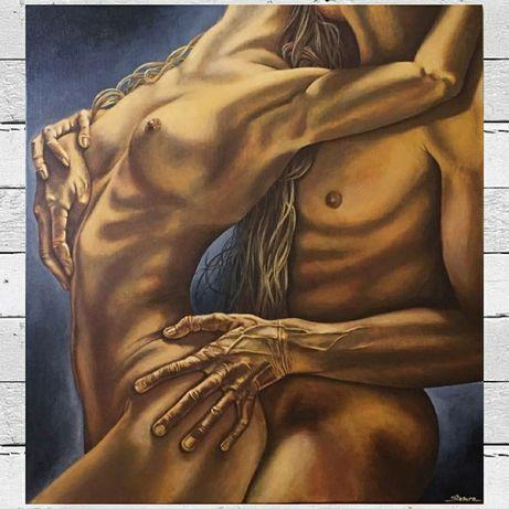 Ню. Большая картина ручной работы Passion
