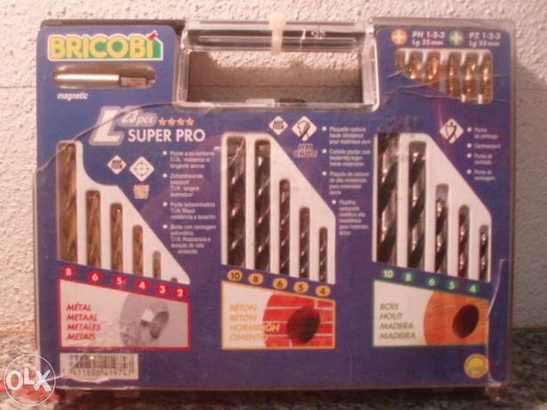 Kit completo de Brocas e pontas de aparafusar Bricobi
