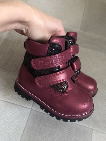 Зимние ботинки сапожки на овчине 24 размер; 15 см